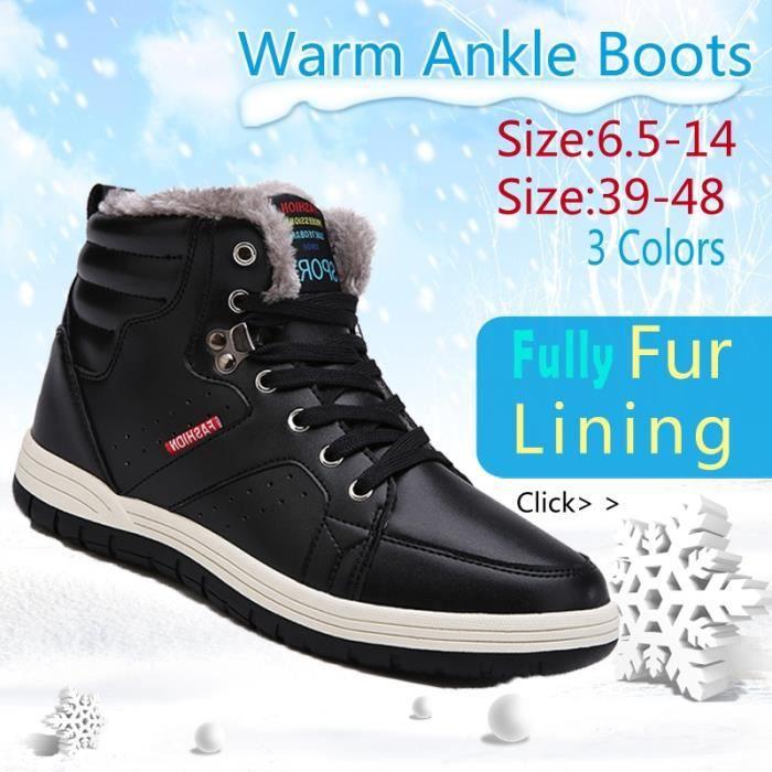 Plus Hiver 5 Bottes Femmes 48 14 de neige à Hommes 6 Bottes en 39 d'extérieur Mode peluche Size chaud cheville qA7zqd