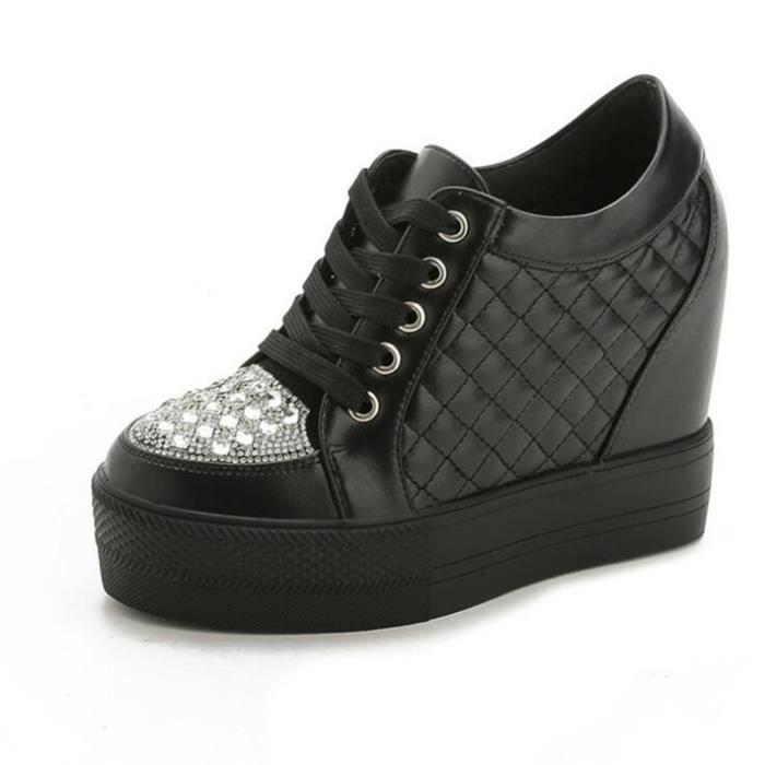 Chaussure Femme Talon Meilleure Qualité Escarpins Mode En Cuir Chaussures Détente Talons Hauts Ultra Confortable Respirant Taille 39
