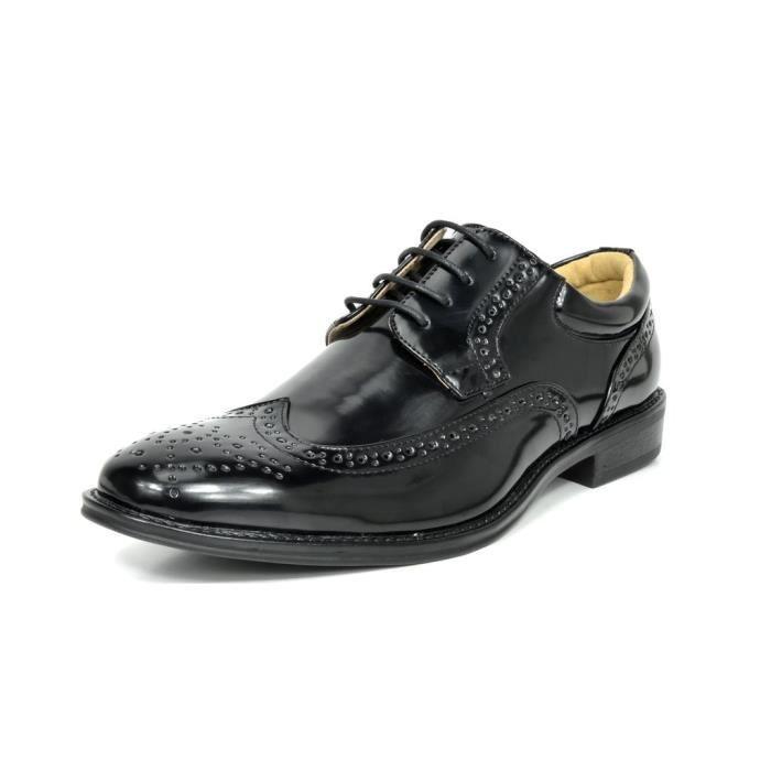 Bruno Marc Londres Modern Classic Oxfords à bout rond Wingtip Comfort Lace Boucle Chaussures de tenue décontractée NW396 Taille-41 eV907z