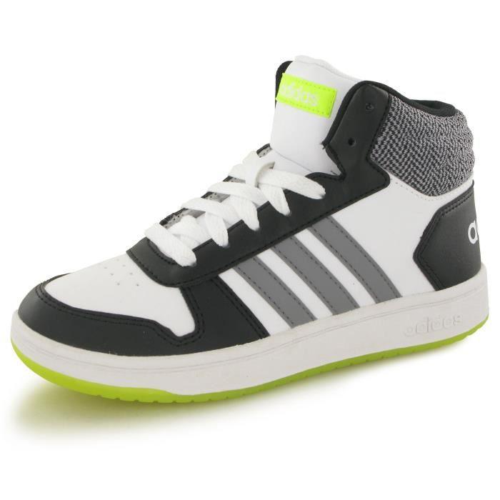 factory authentic fa87f 86c1a BASKET Adidas Hoops Mid 2.0 blanc, baskets mode enfant