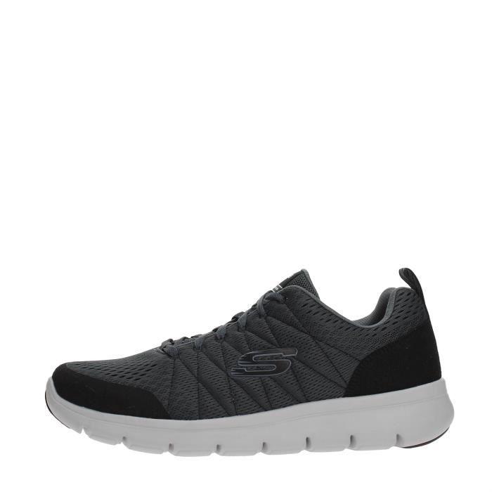 SKECHERS Sneakers Homme CHARCOAL/BLACK, 44