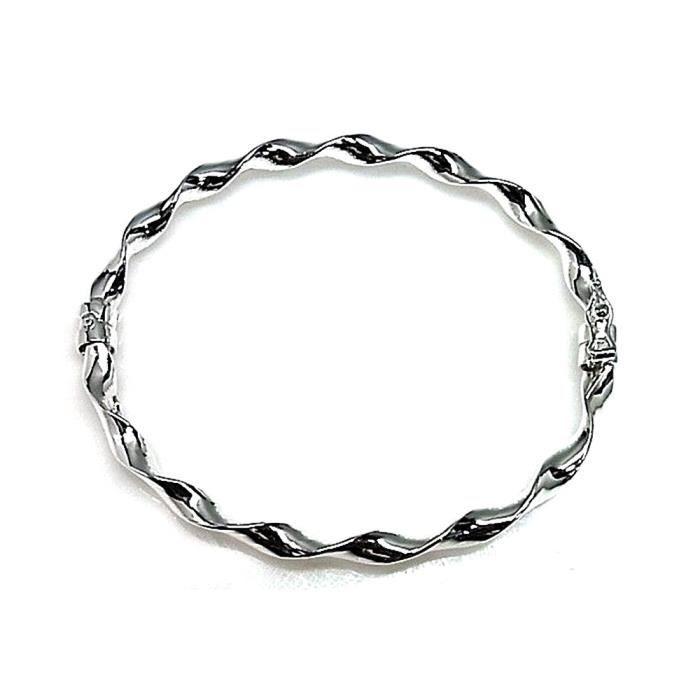 Bracelet reliada loi 4 mm lisse argent 925m. épaisseur [AB0210]