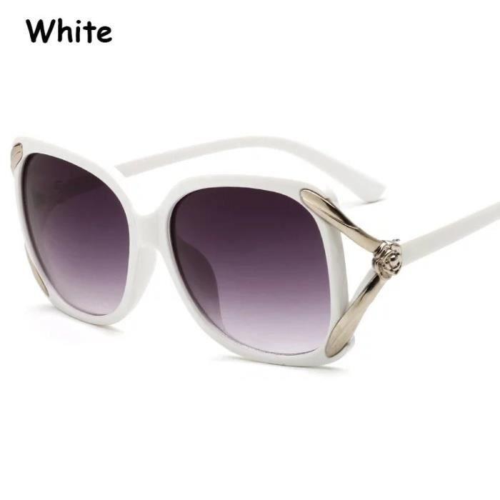 Mode femme Lunettes de soleil cre blanc blancux Rose Eyeglass