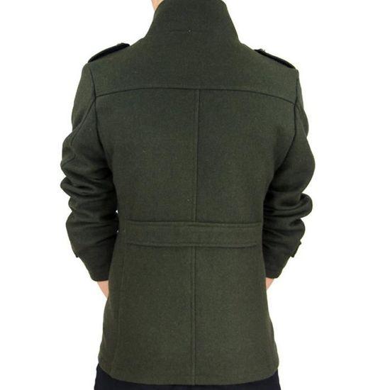 Manteau Noir Hiver Manches Homme Longues Chaud automne M qvPfqYrw