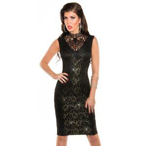 243797dd388 Robe mi longue soirée sexy noire femme Noir - Achat   Vente robe de ...