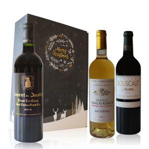 VIN ROUGE Coffret Vins 3 Bouteilles Grand Cru Classé - 75cl