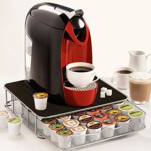 DISTRIBUTEUR CAPSULES Support machine à café avec tiroir de rangement po