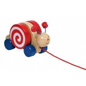 JOUET À TIRER Toys Pure 2041322 - Jouet À Tirer - Escargot Wanja