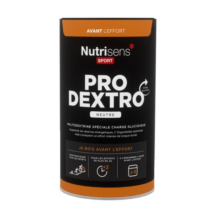 NUTRISENS Complément alimentaire - Pot de 450g - 8 dosettes maltodextrine spéciale charge glucidique ProDextro - Neutre