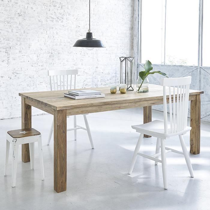 Table rectangulaire en TECK RECYCLE 200cm - Achat / Vente table de ...
