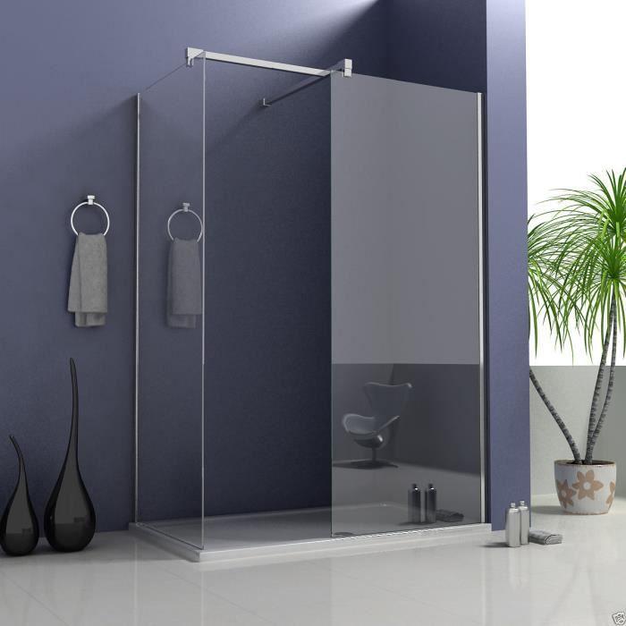 paroi de douche 140x200cm paroi lat rale 140x200cm porte. Black Bedroom Furniture Sets. Home Design Ideas