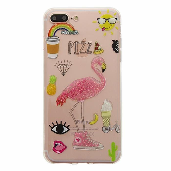 coque flamant rose iphone 8 plus