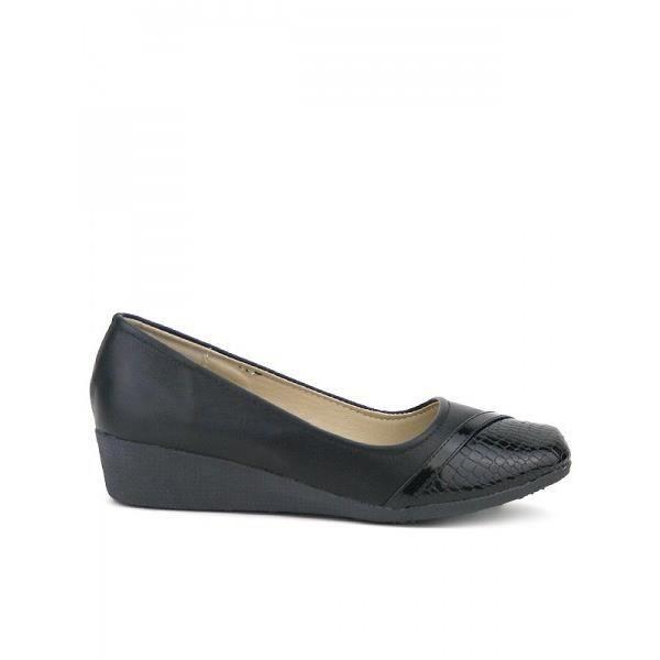 Compensées Noir Chaussures Femme, Cendriyon