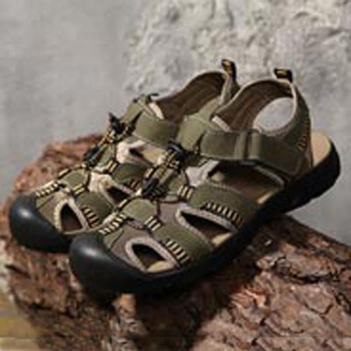 Chaussures Mode homme colorés confortable Skid-résistance Sandales Rétro jyrFoV2EXG