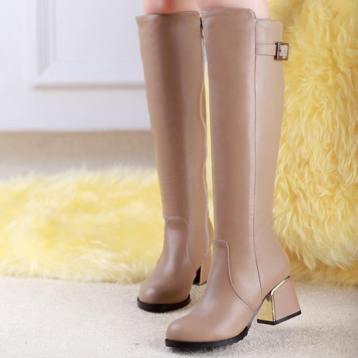 HUIXIN®des bottes imperméables à hauteur de genou bottes hautes bottes pour dames