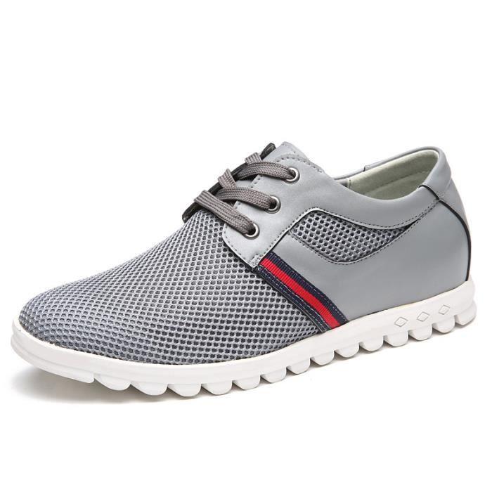 2017 Nouveau Hommes Chaussures Casual, Mesh été pour les hommes, Super Light Flats Chaussures, Pied d'emballage,gris,38