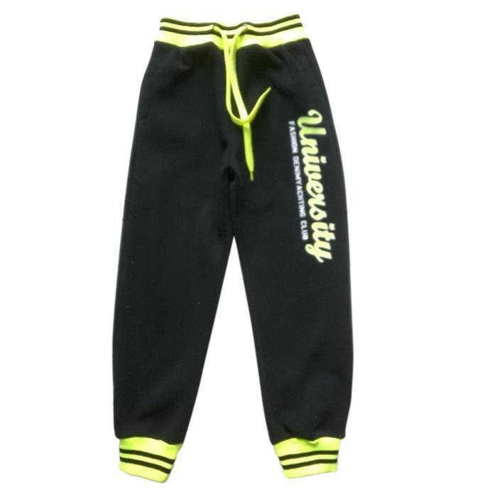 563383b3d115 Survetement - Jogging De Sport - NPZ - Jogging fashion University noir et  jaune fluo