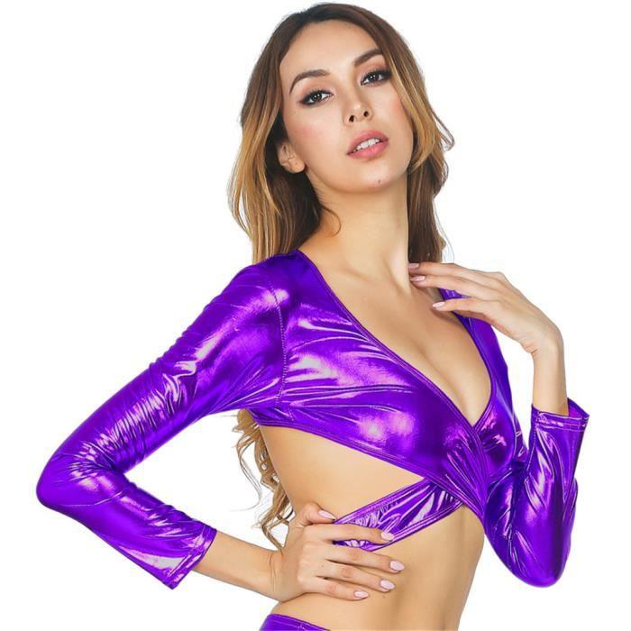 Gorge Lingerie Bodycorn Sous Femme Violet Pour Soutien En Sexe Sexy Backless Cuir vêtements Verni wCqCUrXc