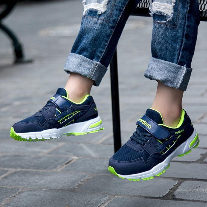 blanc Vert Baskets Course bleu noir Enfants De Chaussures xpSPOX