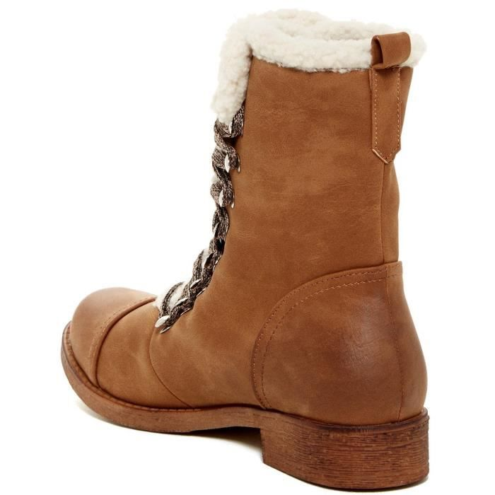 Ajaxe Womens Fashion Faux Fur Trim Boots JNW3S Taille-41