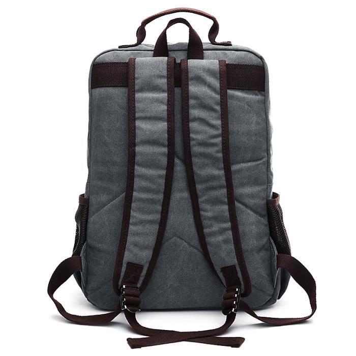 Vbiger Multi-fonctionnelle Toile Sac à Dos À La Mode En Plein Air Daypack Casual Voyage Épaules Sac pour Hommes, Gris