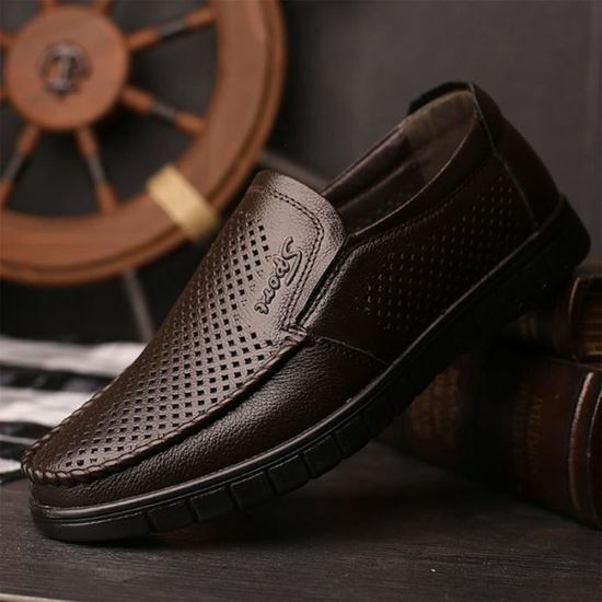 Plat Chaussure Printemps Souple Veritable Decontractees 2018 Mocassin  Flaneurs Chaussures Cuir Male Hommes Ete Respirant De wfxPWH4nOq bbace977734