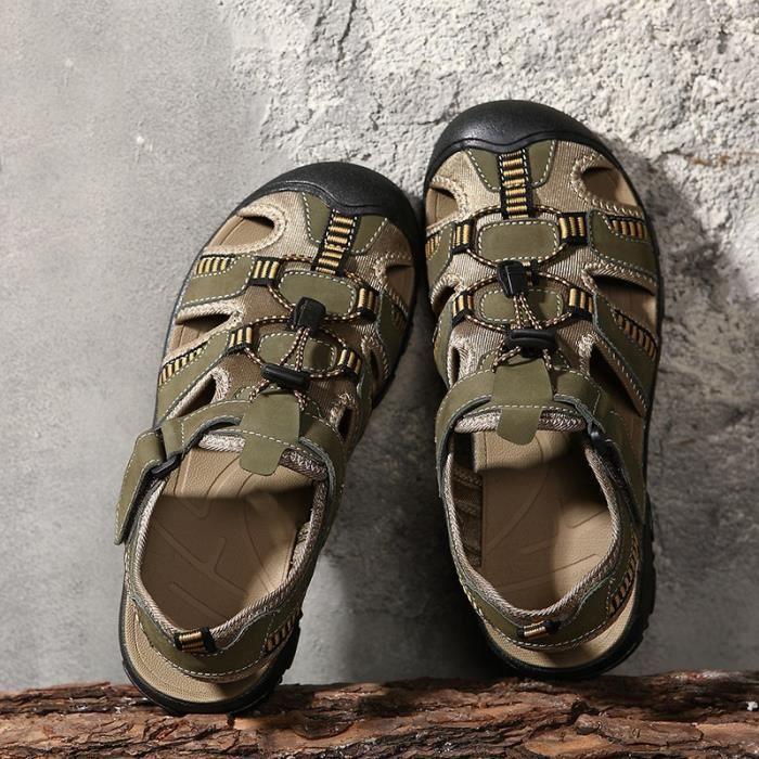 Hommes Chaussures Mode Rétro Lithe froid et Skid résistance Sandales confortables Jawwx