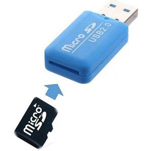 ADAPTATEUR CARTE SD Clé USB 2.0 Lecteur Adaptateur Micro Carte SD - Bl