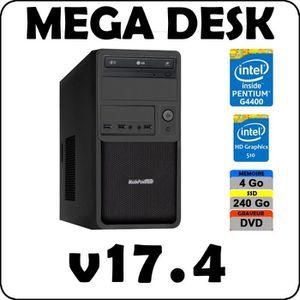 UNITÉ CENTRALE  PC MEGA DESK Pentium G4400 / 4 Go DDR4 / SSD 240 G