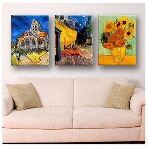 TABLEAU - TOILE Sun Flowers Church Cafe Vincent Van Gogh IMPRIMER