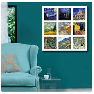 TABLEAU - TOILE Starry Night Cafe Church Room Alpes Collage 9 Vinc