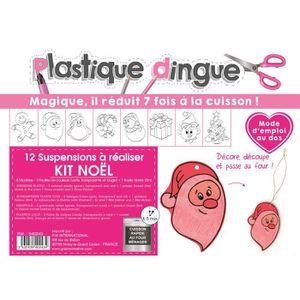 KIT SCULPTURE Kit Plastique Dingue pour 12 suspensions de Noël -