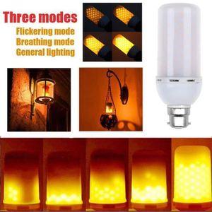 AMPOULE - LED LED B22 5W Flicker Flamme Effet Feu Ampoule chaud