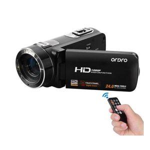 CAMÉSCOPE NUMÉRIQUE Ordro HDV-Z8 Caméscope Full HD 1080p, zoom numériq