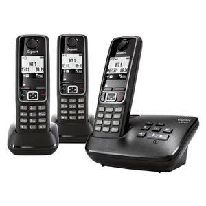 Téléphone fixe SIEMENS GIGASET A420A NOIR TRIO AVEC REPONDEUR