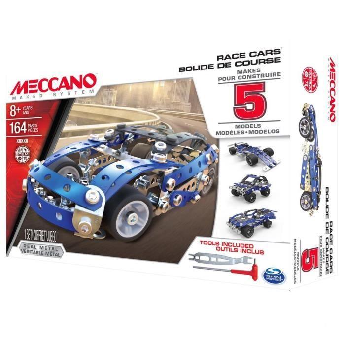MECCANO Voiture Course Automobile - 5 Modèles à construire