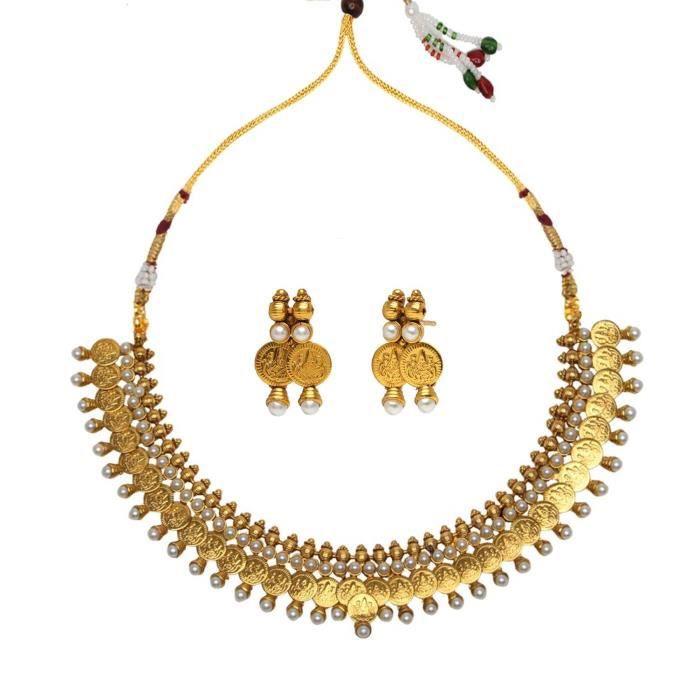 Les femmes de la mariée avec boucles doreilles blanc Collier en cuivre Set Ensembles de bijoux pourFPAKW