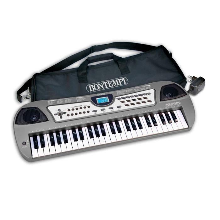 clavier lectronique 49 touches avec housse et adaptateur pas cher achat vente clavier. Black Bedroom Furniture Sets. Home Design Ideas