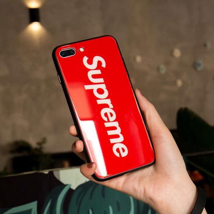 coque iphone xs supreme red