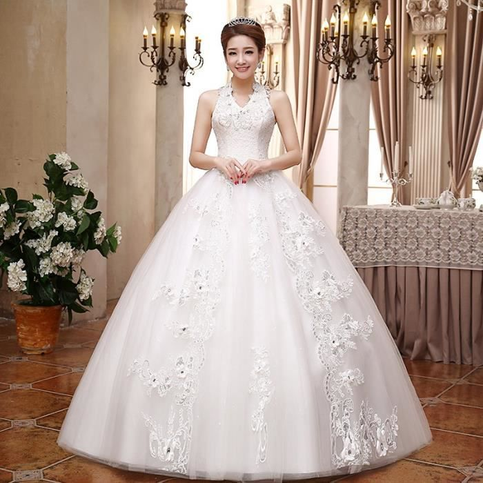 Mariage Classique Perles Style La Xl Halter Photo Coréen Plus Noiva 2017 Avec Nouveau Réel Des Taille Robe Grils De ZiOwuTkPX