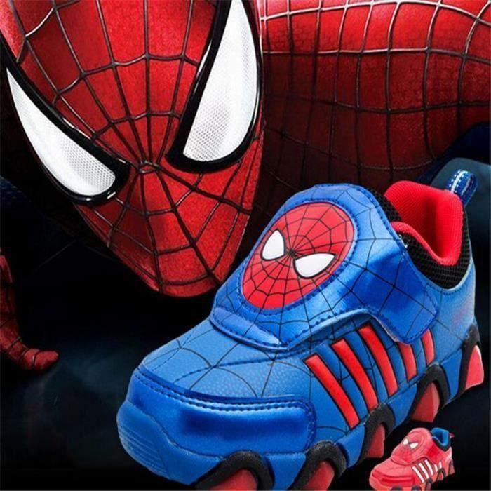 Baskets Enfants Spiderman émettant Rouge