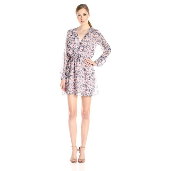 Bcbgeneration Robe imprimée à manches longues pour femmes PD6TG