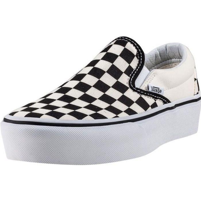 Vans Classic Slip-on Check Platform Femmes Chaussures sans lacets Blanc Noir  - 5 UK 4a12b6f513ff