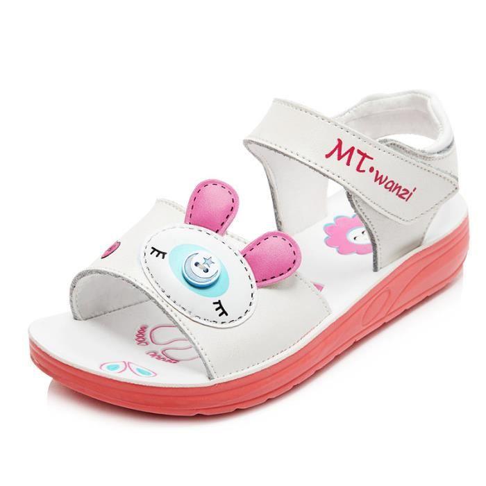 92713110d5d Enfant Sandales Bébé Fille Mode En cuir Chaussures pour enfants ...