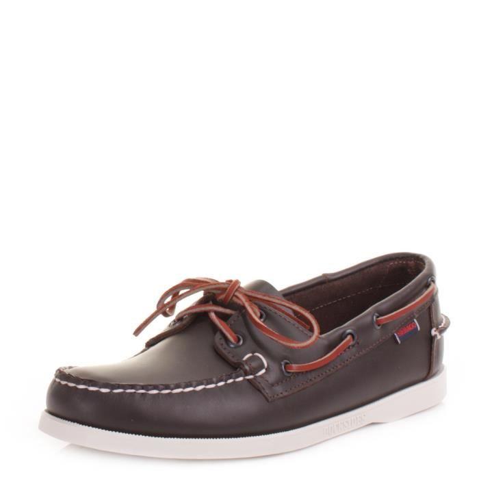 Sebago DOCKSIDES, Chaussures Bateau Homme, Rouge( WINE), 46.5