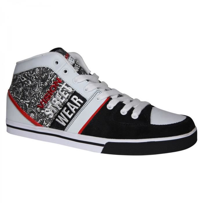 samples shoes VISION SANTIAGO WHITE RED BLACK MEN