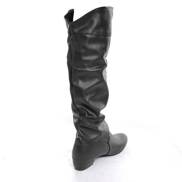 Cuir PU Bottes Chaussures femmes loisirs de cou...