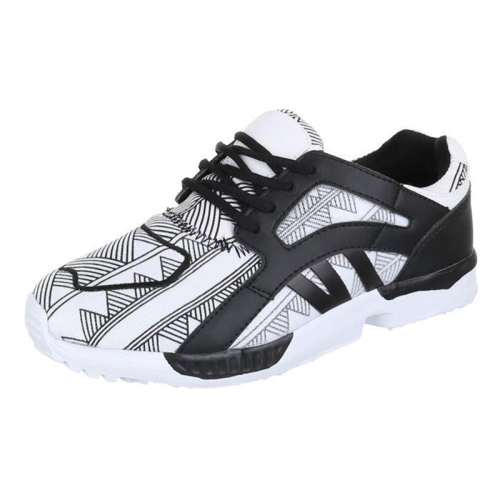 Chaussures femmes sneakers Basket sneakers blanc noir