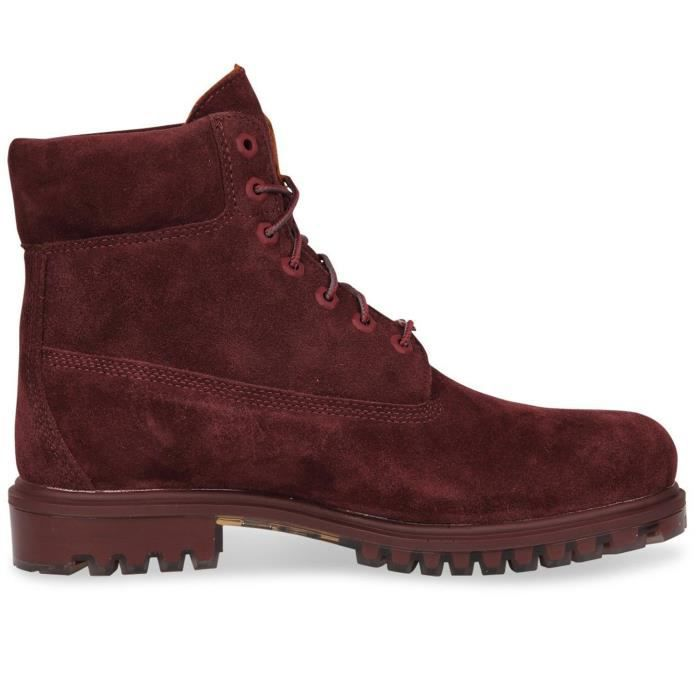 TIMBERLAND Tpu 6 Wp Suede Bottine Homme - Taille 44.5 - ROUGE