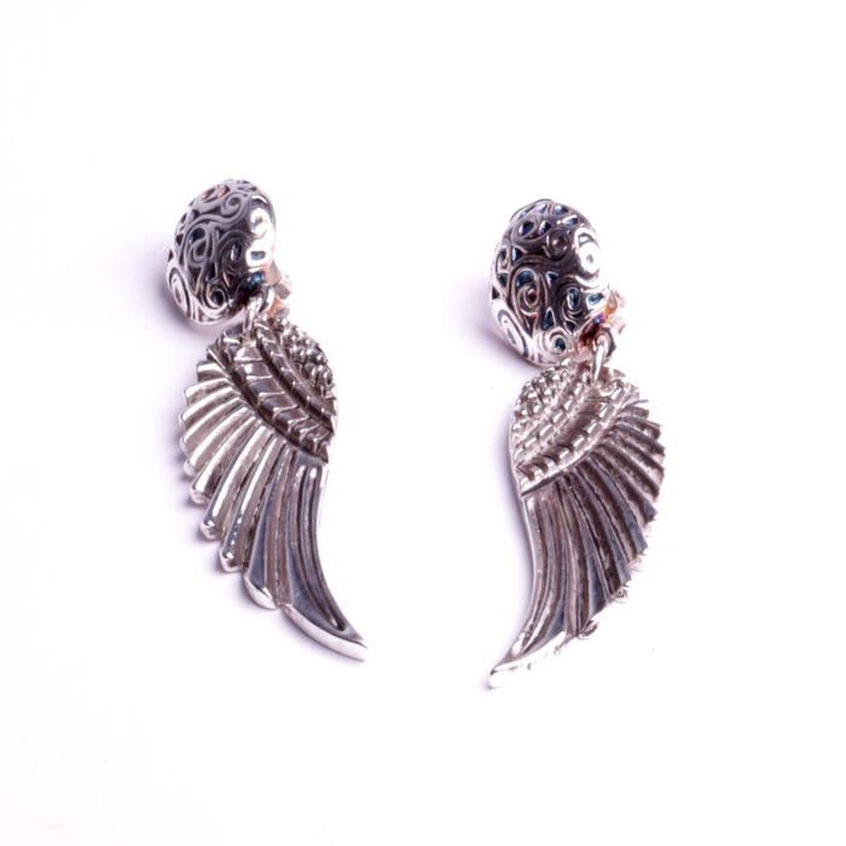 2c7a18b14483b Boucle d oreille Boucles d oreille pendante a clips plume fantaisie